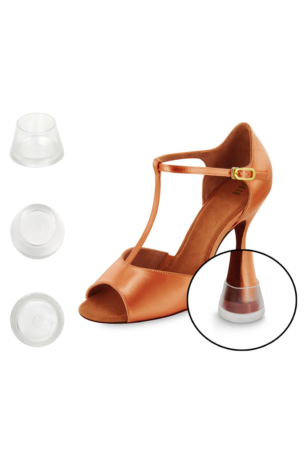 Round 8cm Latin Shoe Heel Protector Dance Shoes Accessories