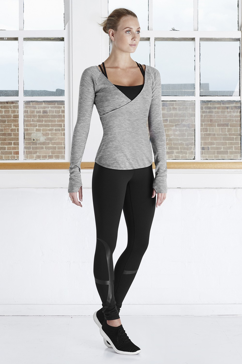 Luxurious Merino Cross Front Top Women's Dance Warmups