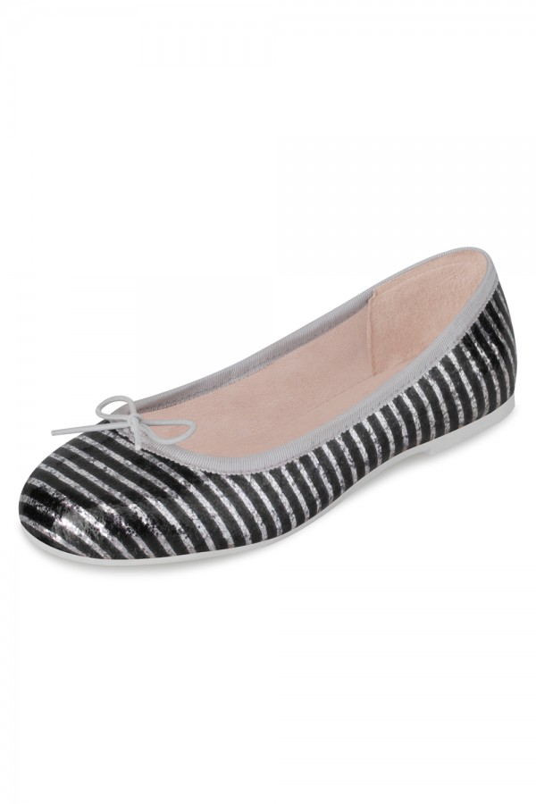 image - Girls Alexia Glitter Stripe Patent Ballet Flat Sho Girls Fashion Shoes