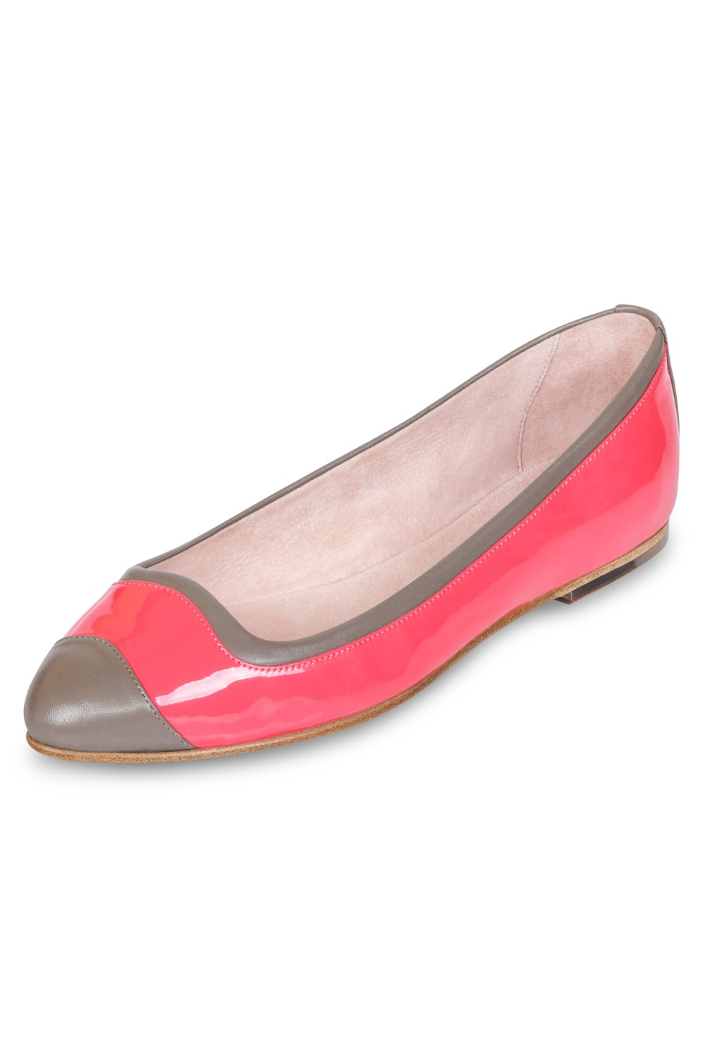 Manuela Two Tone Ballet Flats Womens Fashion Shoes
