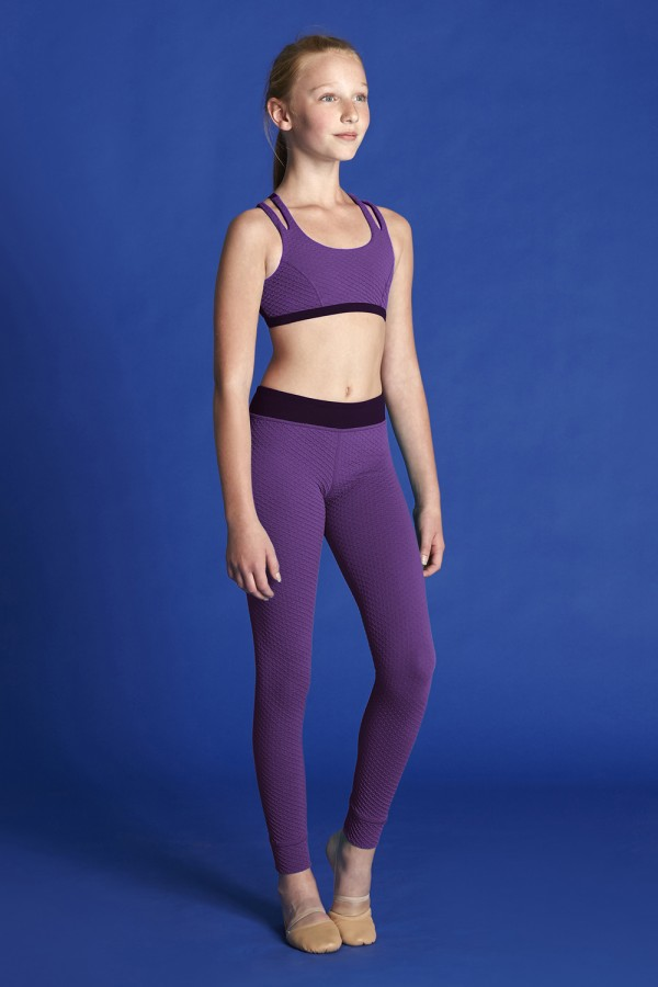 image - Core Textured Cross Strap Crop Top Bloch Moves