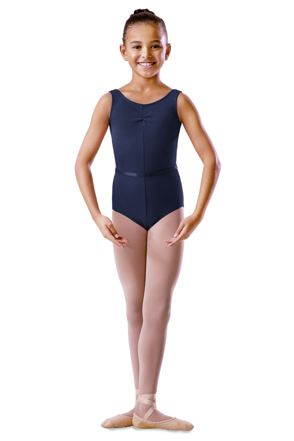 Childrens Rouche Front Tank Leotard Children's Dance Uniforms
