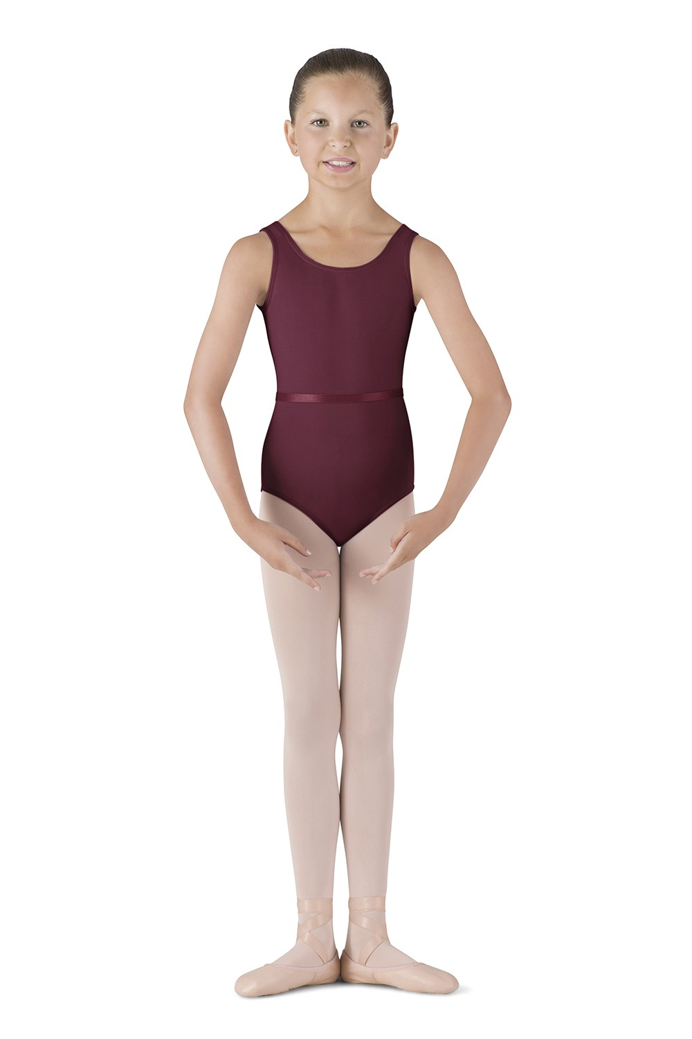 Belted Tank Leotard - Girls Children's Dance Uniforms