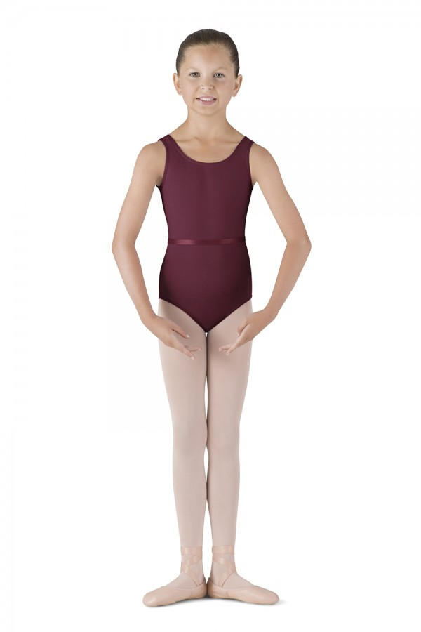 image - Belted Tank Leotard - Girls Children's Dance Uniforms