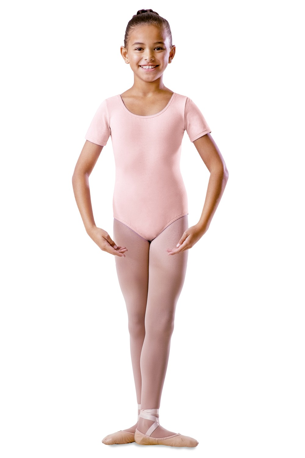 Childrens Round Neck Short Sleeve Leotard Children's Dance Uniforms