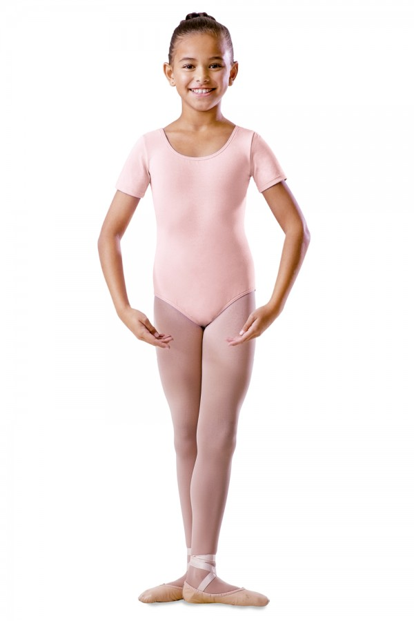 image - Childrens Round Neck Short Sleeve Leotard Children's Dance Uniforms