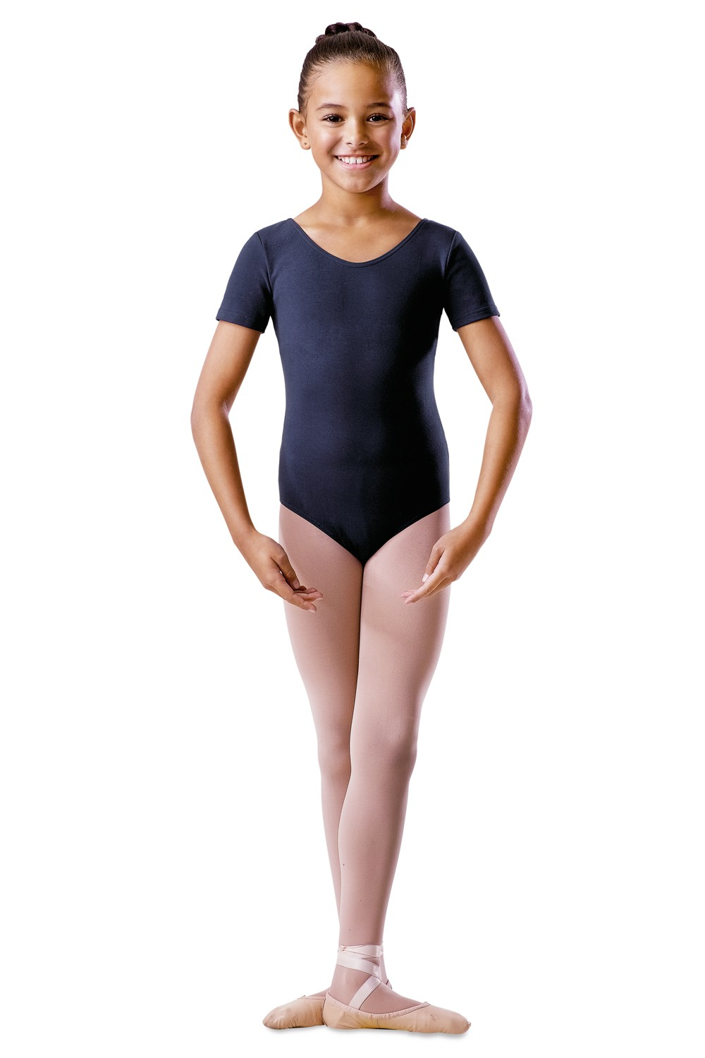 Justaucorps Manches Courtes Décolleté Arrondi Children's Dance Uniforms