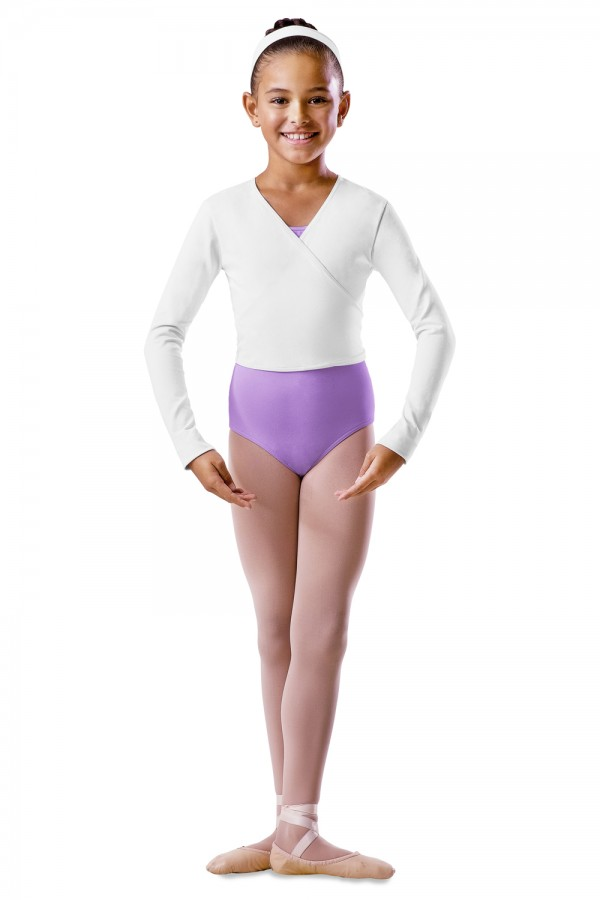 image - Long Sleeve Wrap Top - Girls Children's Dance Uniforms
