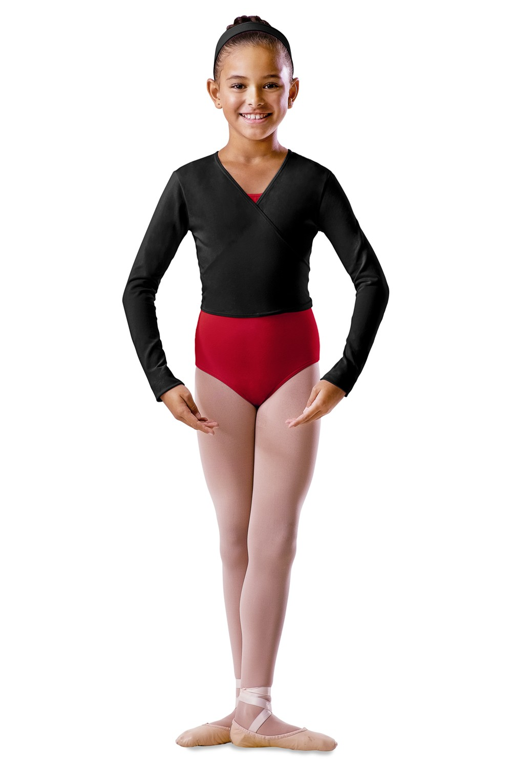 Childrens Long Sleeve Wrap Top Children's Dance Uniforms