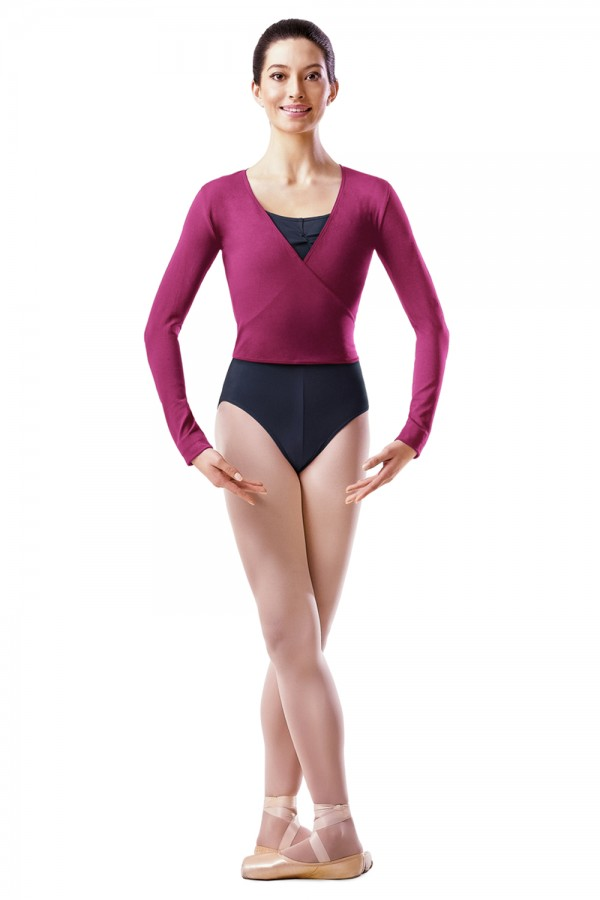 image - Long Sleeve Wrap Top Women's Dance Uniforms