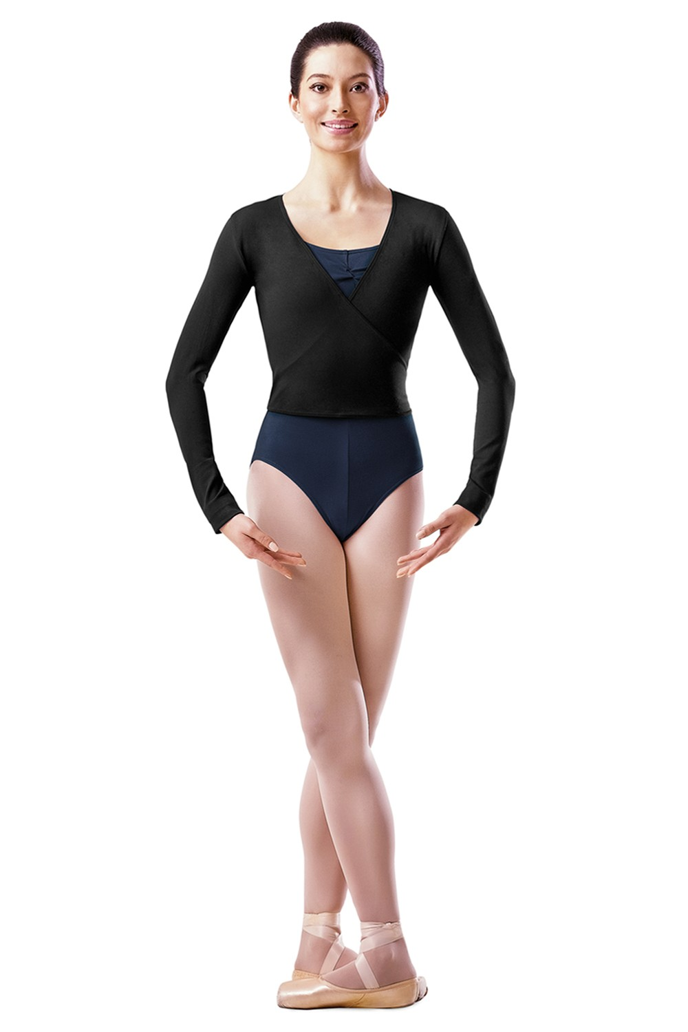 Long Sleeve Wrap Top Women's Dance Uniforms
