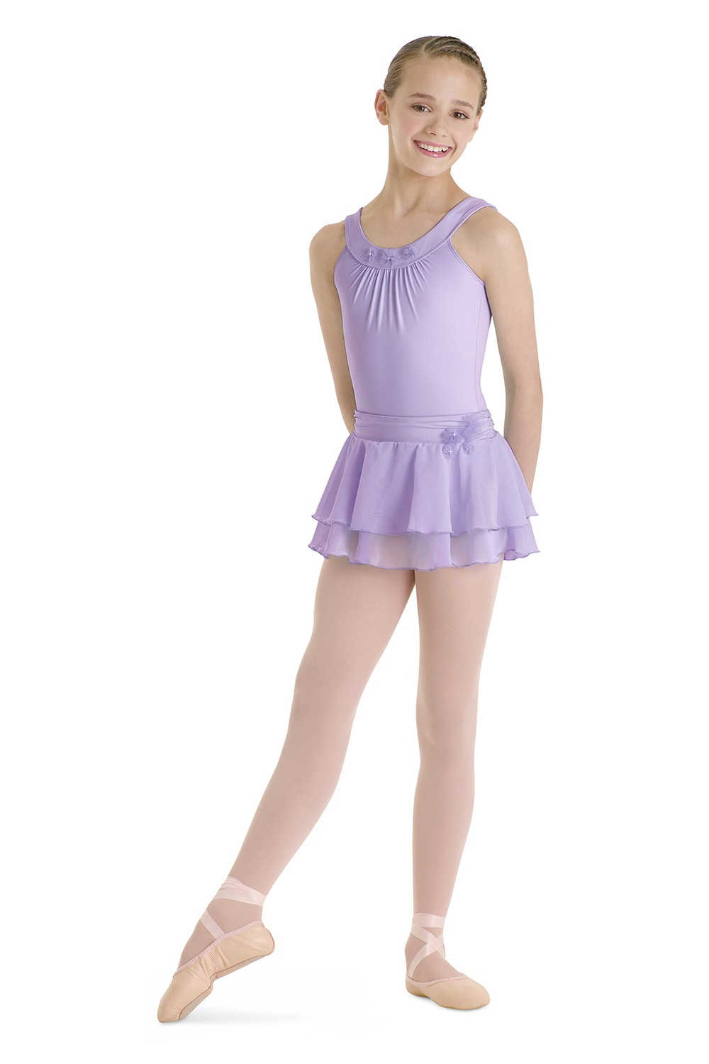 Girls Leotard With Yoke Children's Dance Leotards
