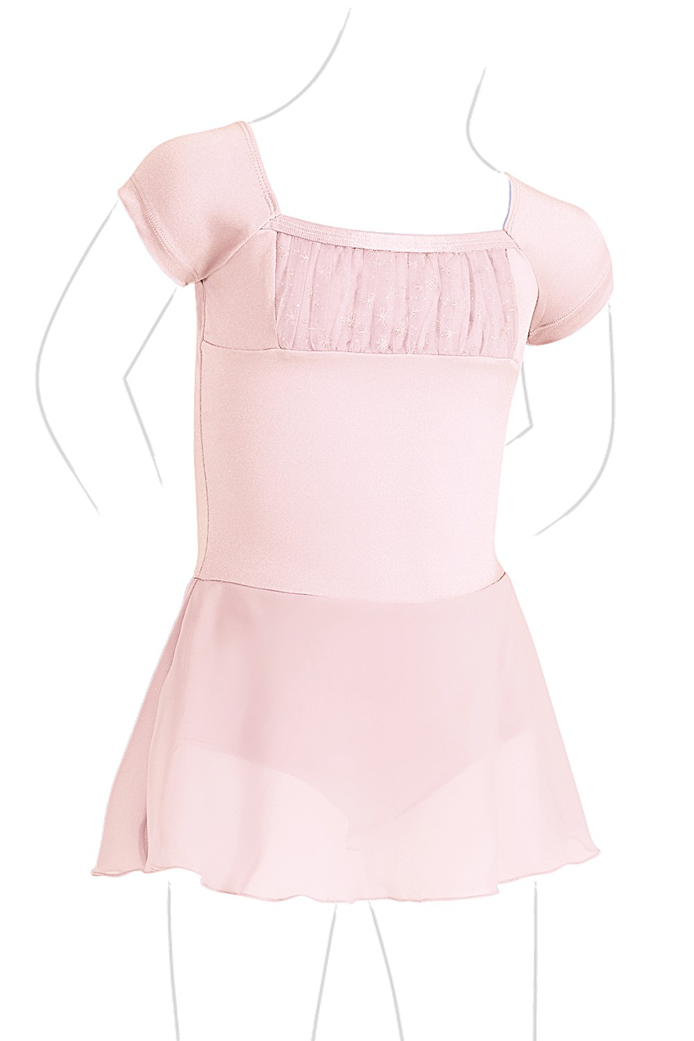 Cap Sleeve Skirted Leo Children's Dance Leotards