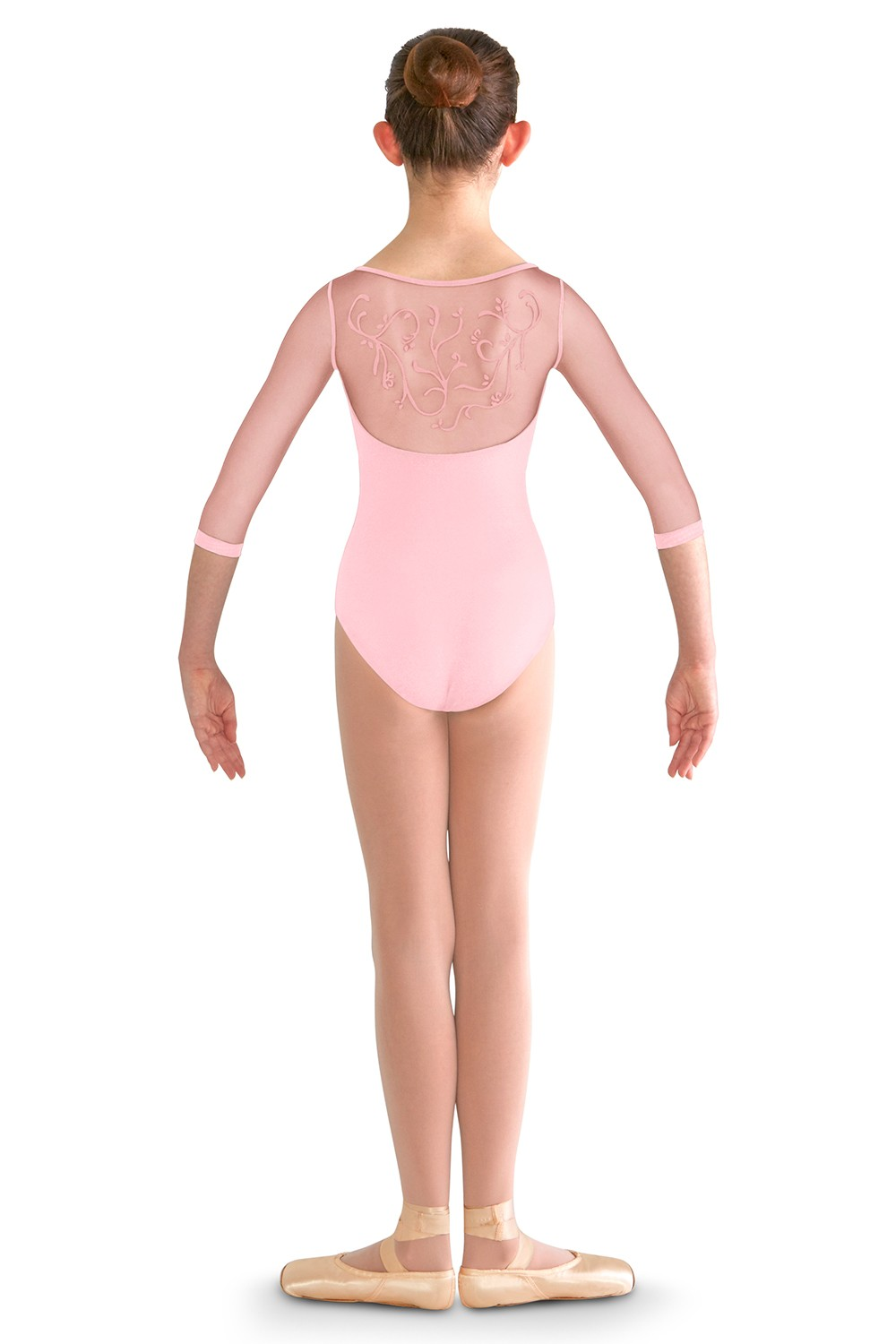 Vine Flock Back 3/4 Sleeve Children's Dance Leotards