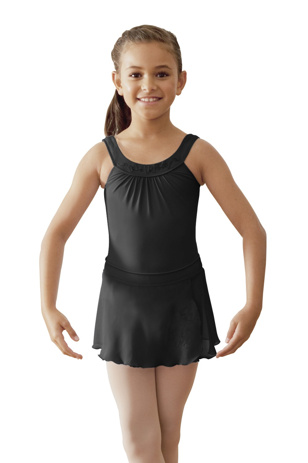 Embroidered Yoke Leotard Children's Dance Leotards