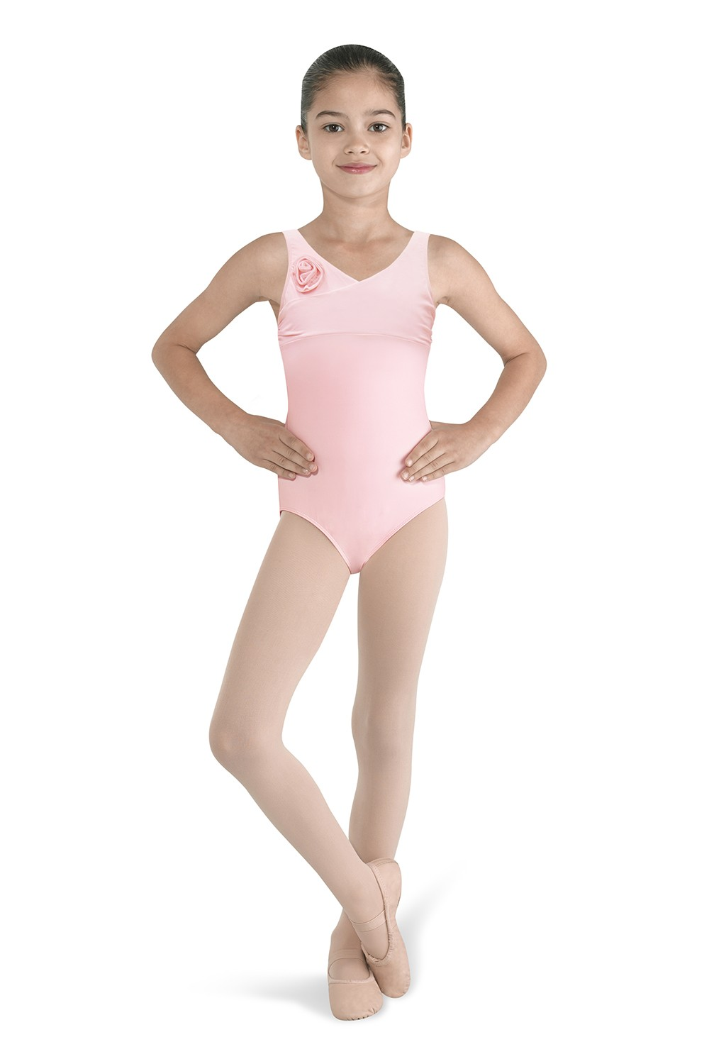 Flower Front Tank Leotard Children's Dance Leotards
