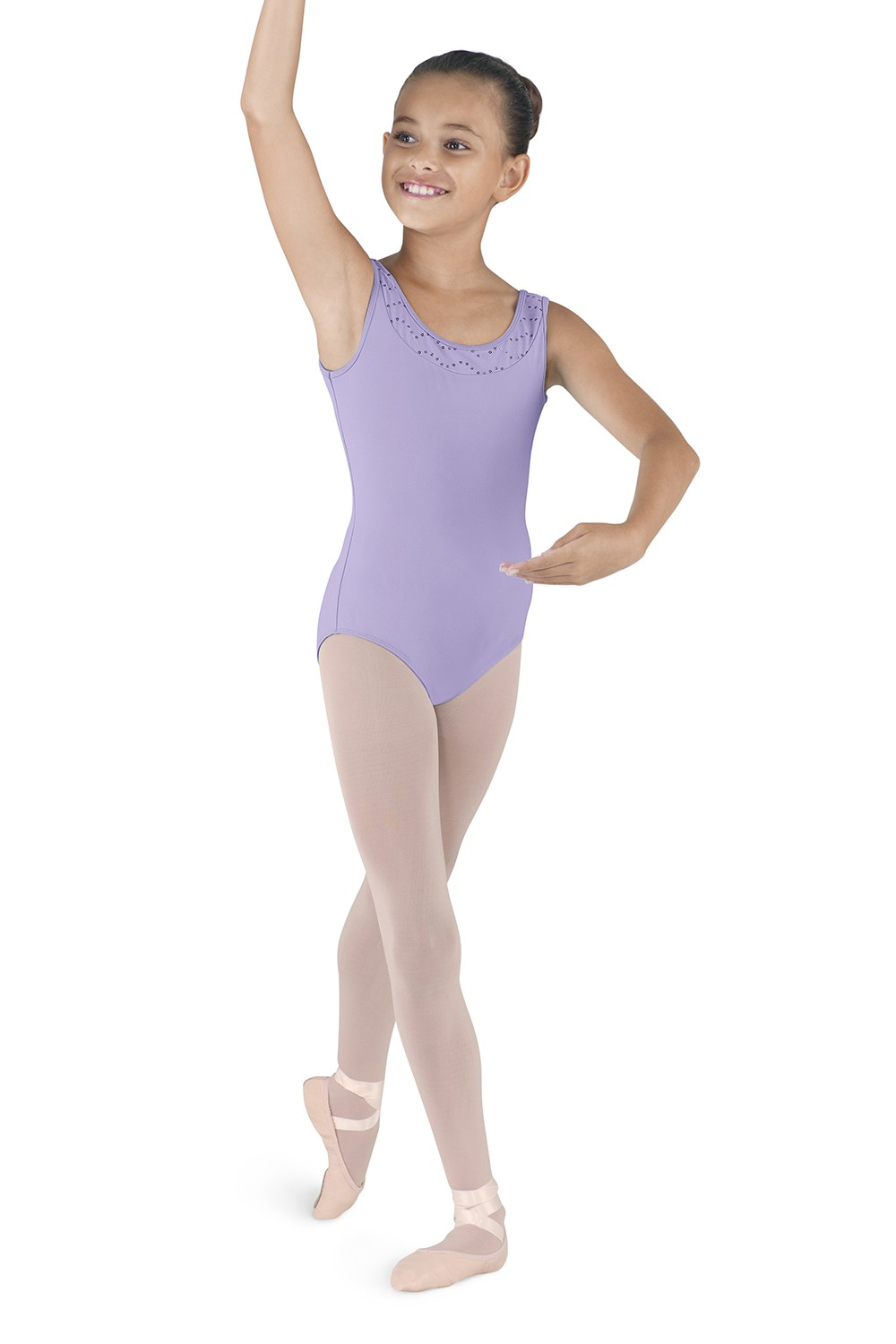 Neckline Band Tank Children's Dance Leotards