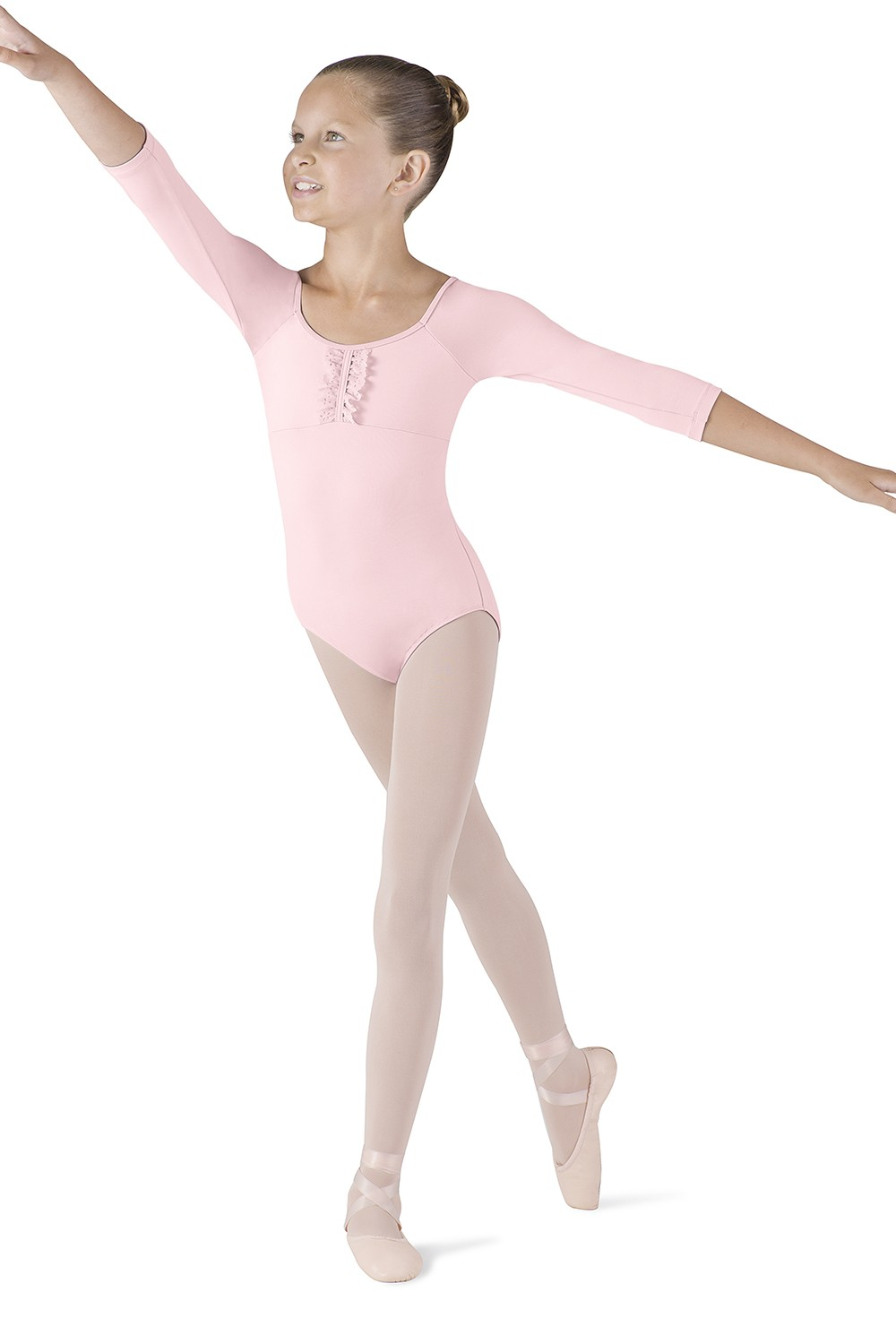 Frill Front 3/4 Sleeve Children's Dance Leotards