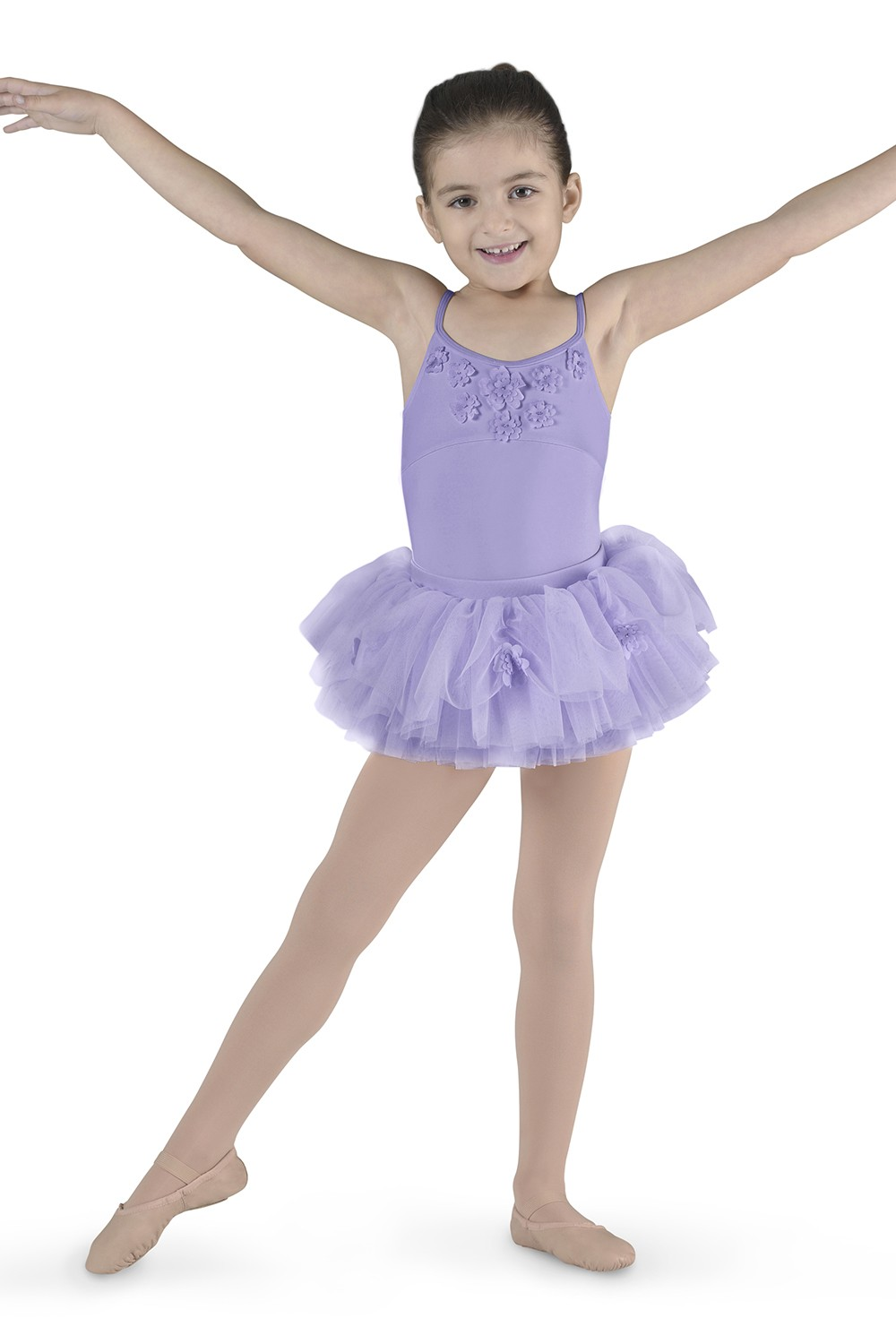 Flower Applique Camisole Children's Dance Leotards