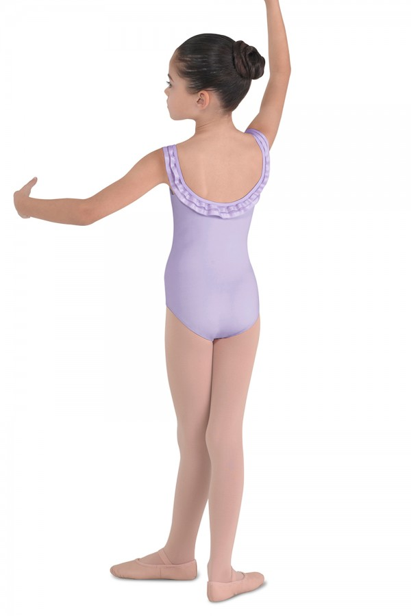image - Ribbon Trim Camisole Leotard Children's Dance Leotards