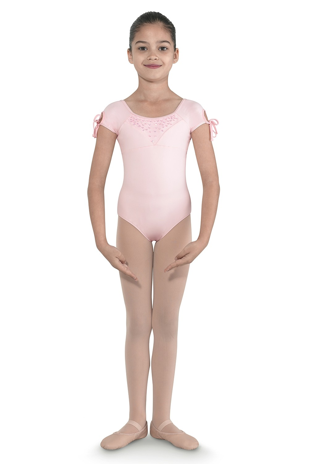 Tie Up Cap Sleeve Leo Children's Dance Leotards