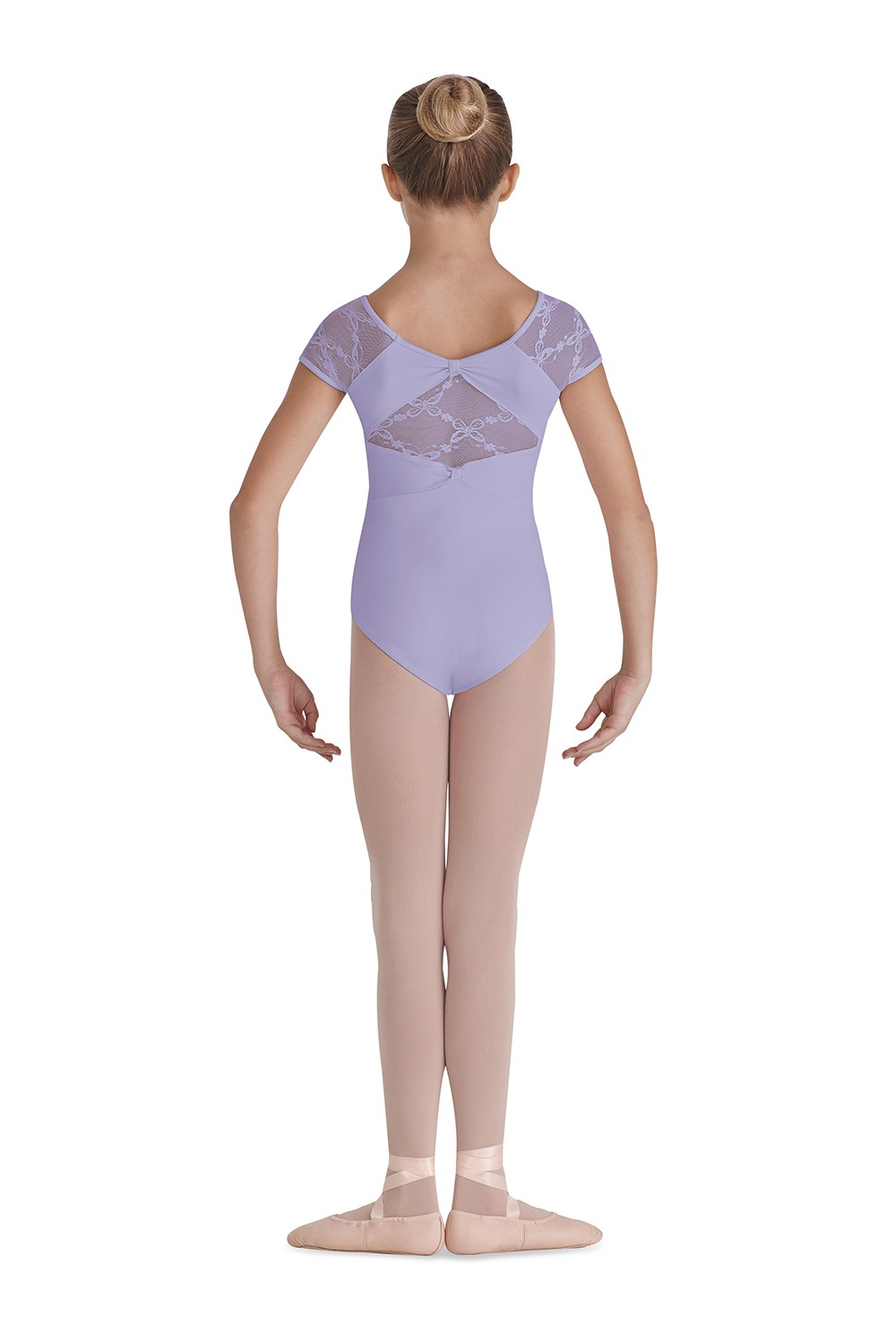 Bow Back Cap Sleeve Children's Dance Leotards