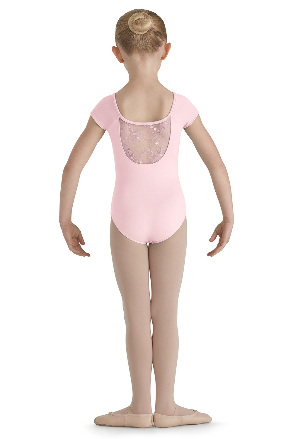 Nanet Girls Short Sleeve Leotards