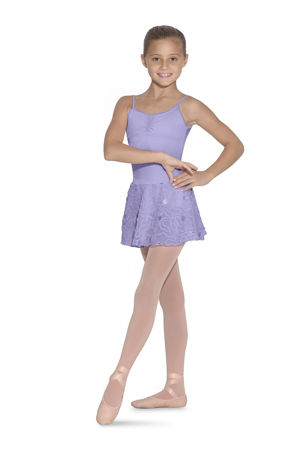 Skirted Dress Camisole Children's Dance Leotards