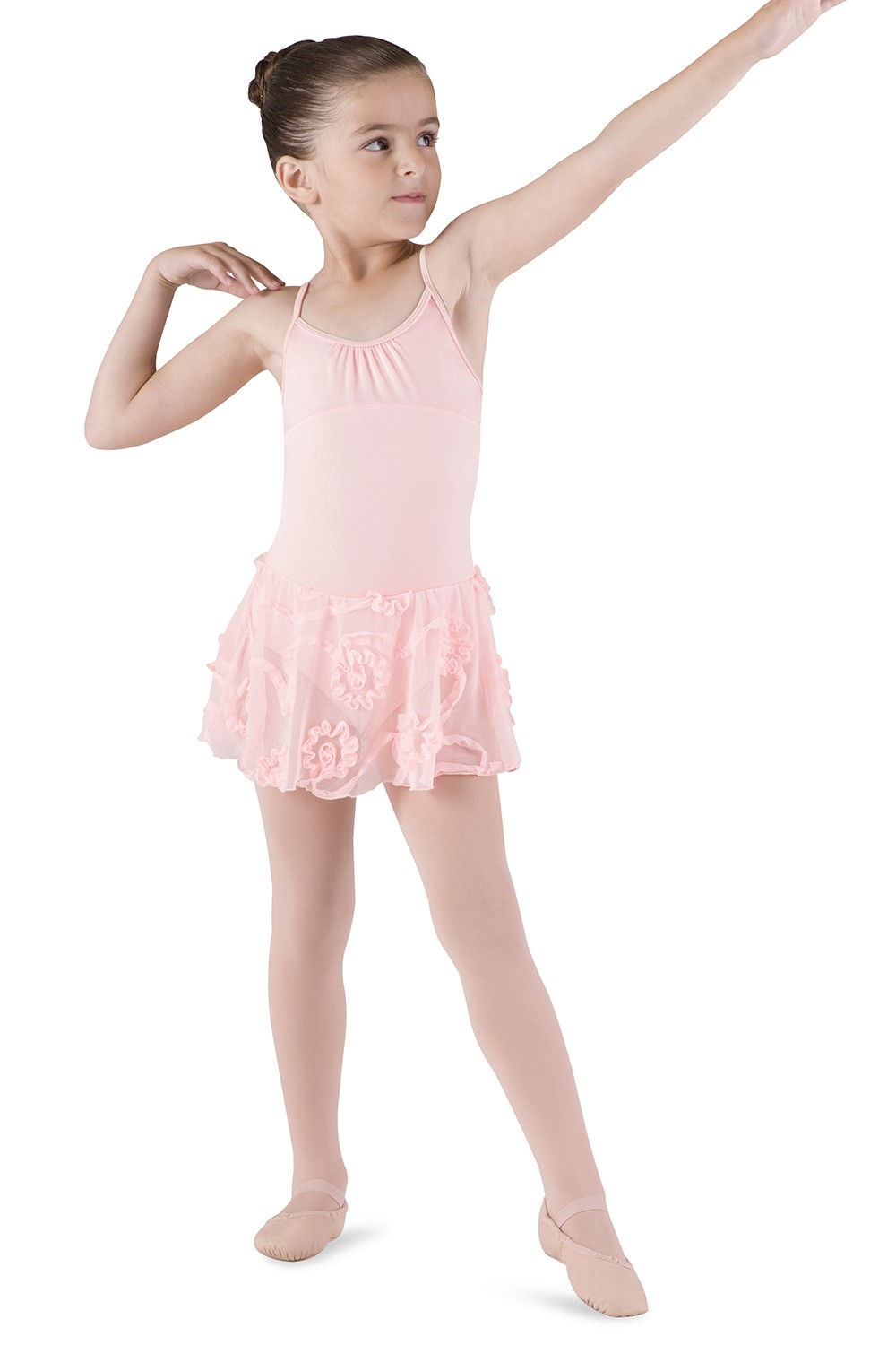 Skirted X Back Cami Leo Children's Dance Leotards