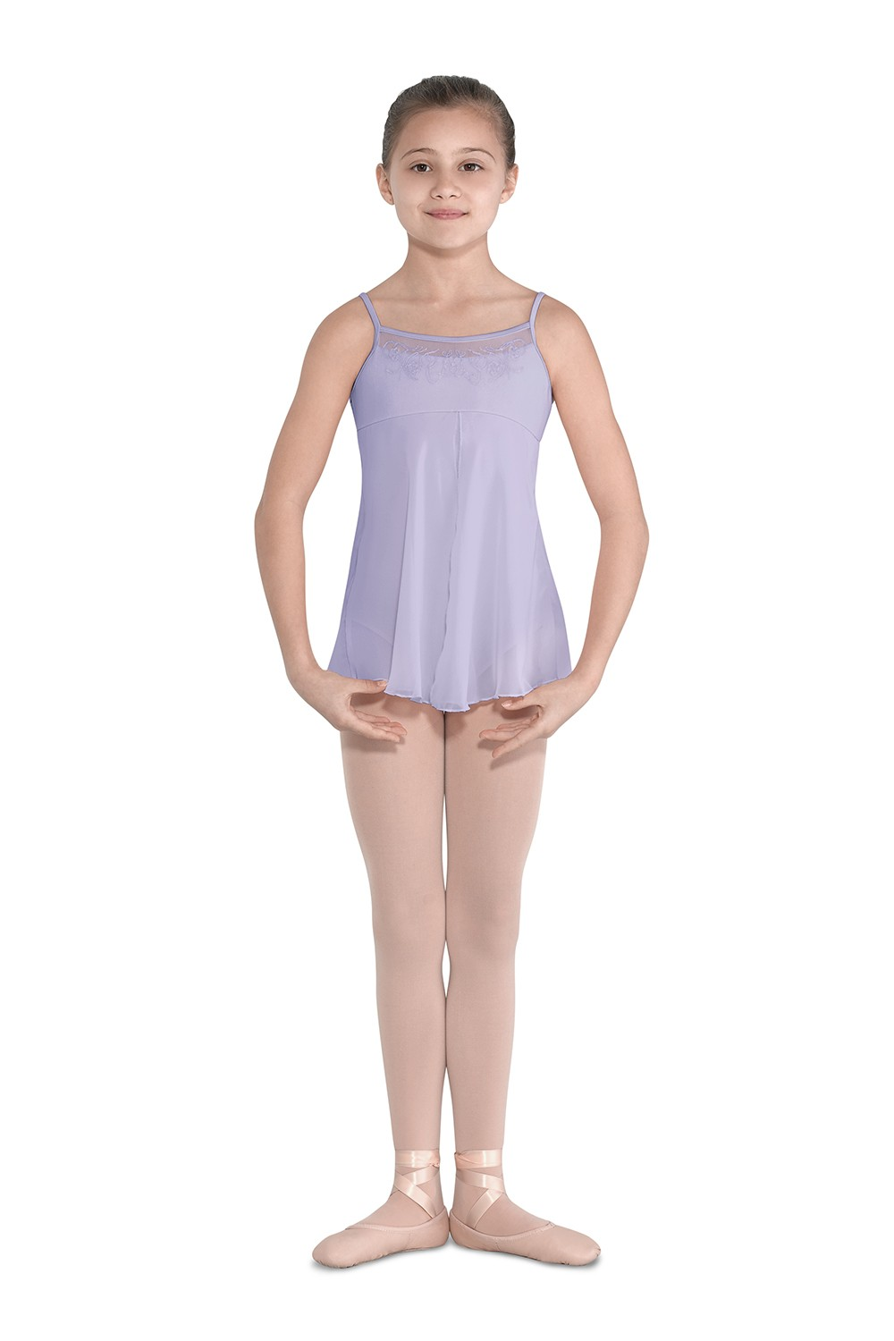 Split Front Dress Children's Dance Leotards