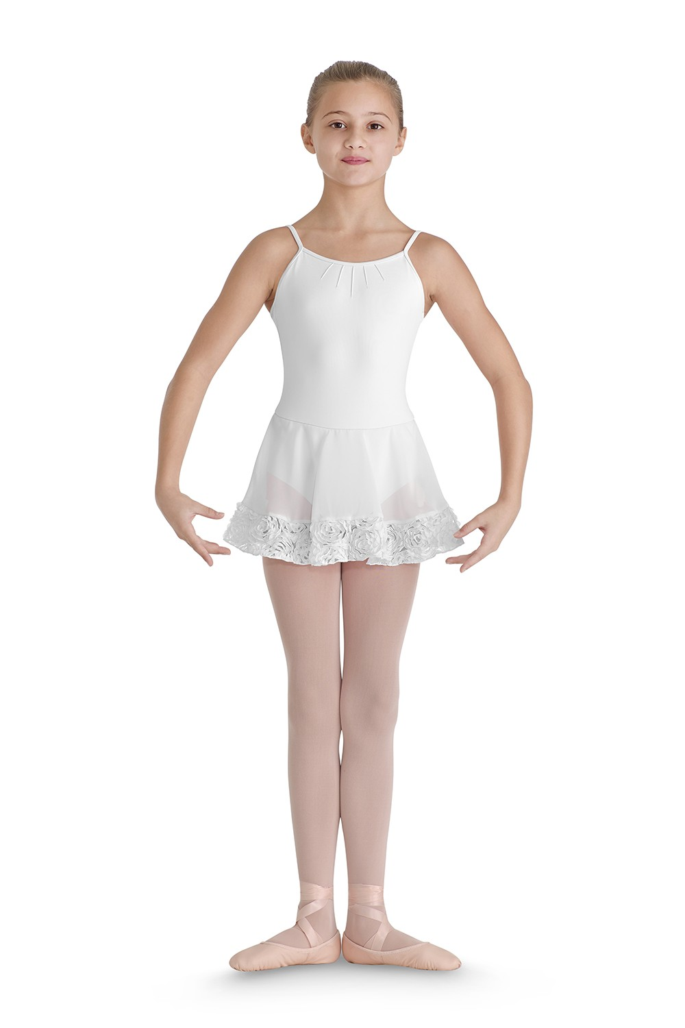 Hem Band Skirted Camisole Children's Dance Leotards