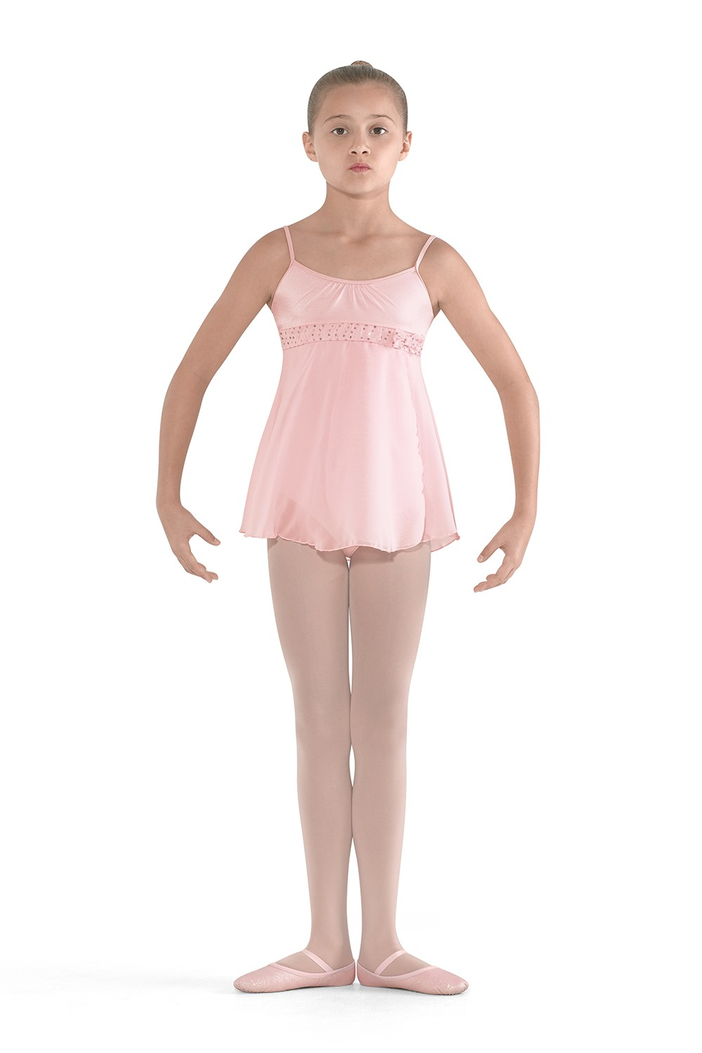 Side Split Skirted Camisole Children's Dance Leotards
