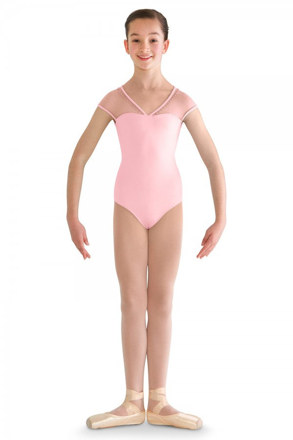 image - Bow Back Cap Sleeve Leo Children's Dance Leotards
