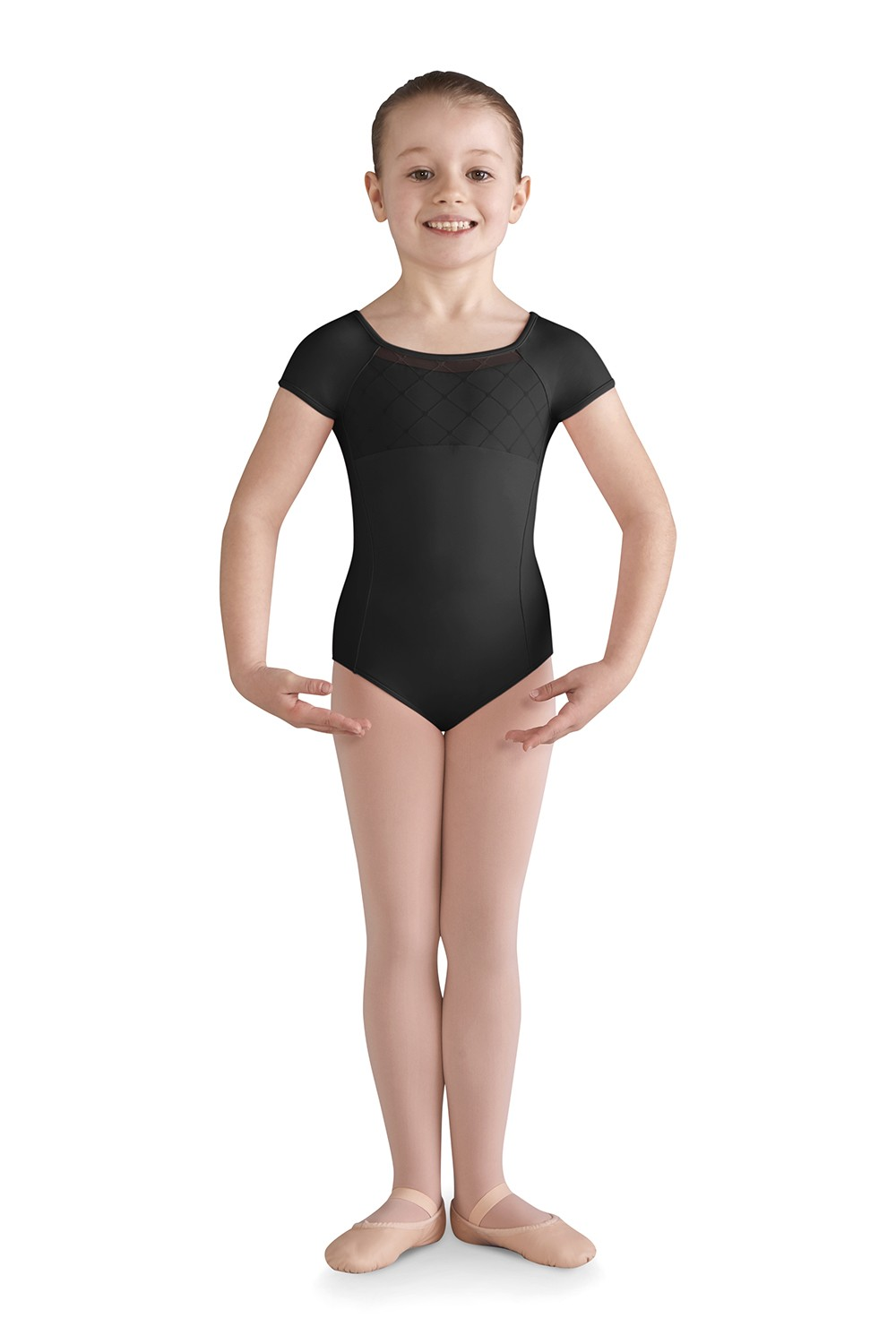 Brielle Girls Short Sleeve Leotards