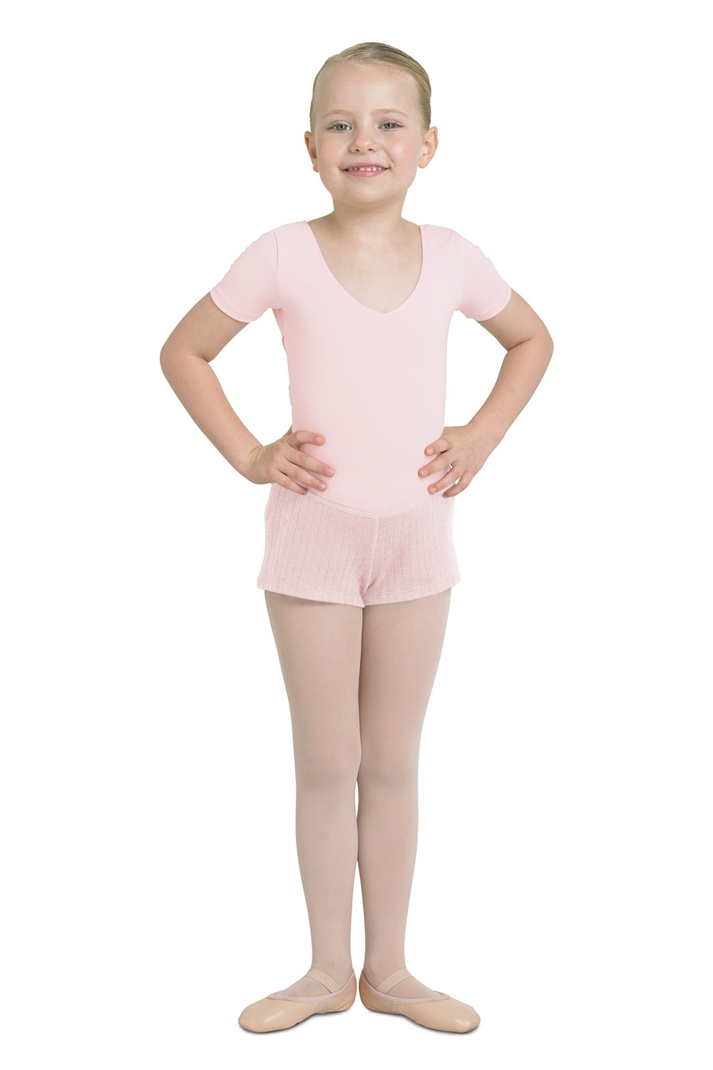 Rib Fleece Short Children's Dance Shorts