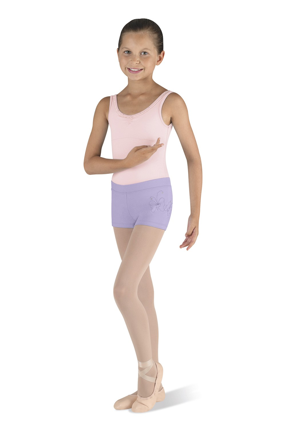 Embroidered Short Children's Dance Shorts