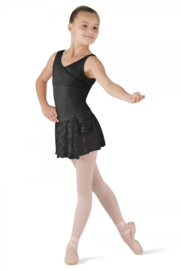 image - FRONT TAB LACE SKIRT Children's Dance Skirts