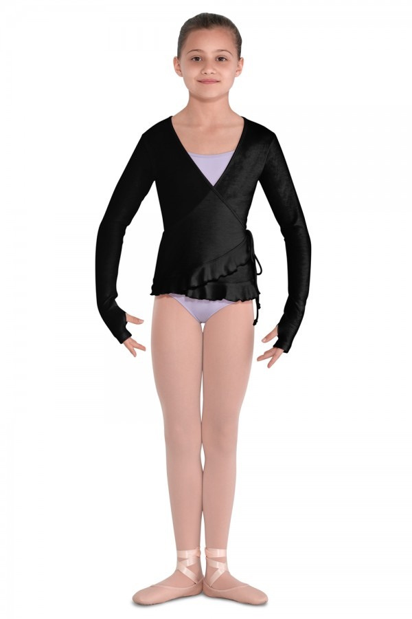image - Alivia Girls Soft Jersey Wrap Top Children's Dance Tops