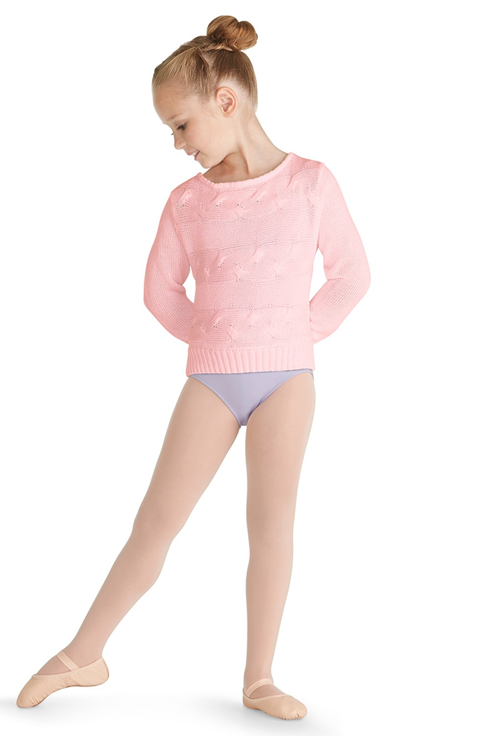 Long Sleeve Sweater Children's Dance Tops