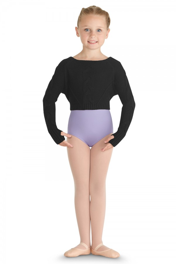 image - Crop Knit Sweater Children's Dance Tops