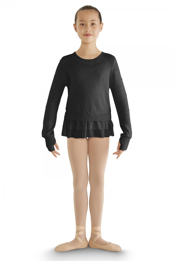 image - Bubble Knit Long Sleeve Sweater Children's Dance Tops