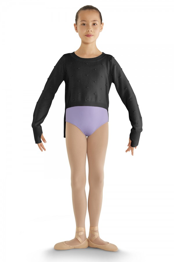 image - Hi-Lo Long Sleeve Sweater Children's Dance Tops