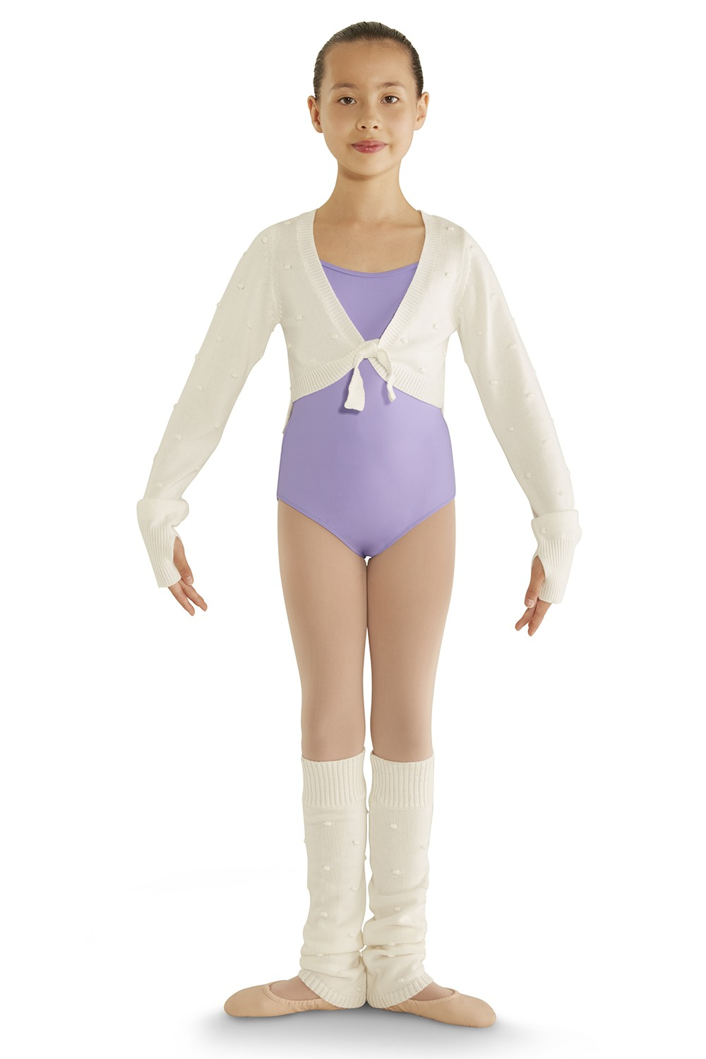 Vee Front Long Sleeve Sweater Children's Dance Tops