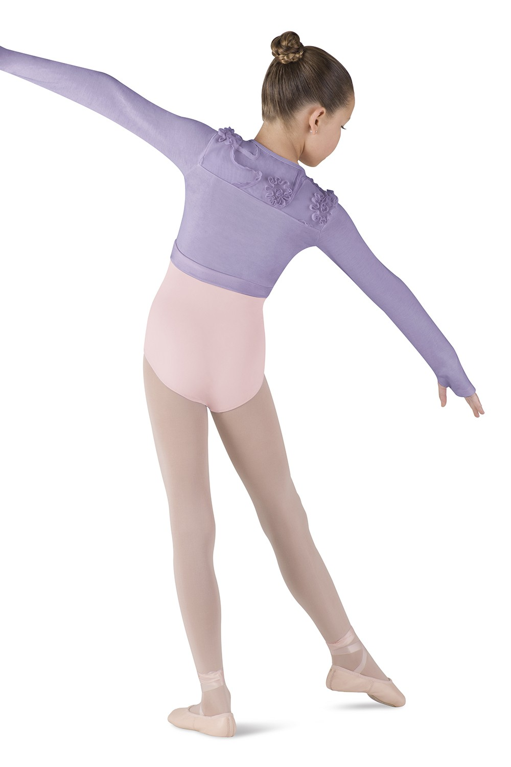 Long Sleeve Wrap Top Children's Dance Tops