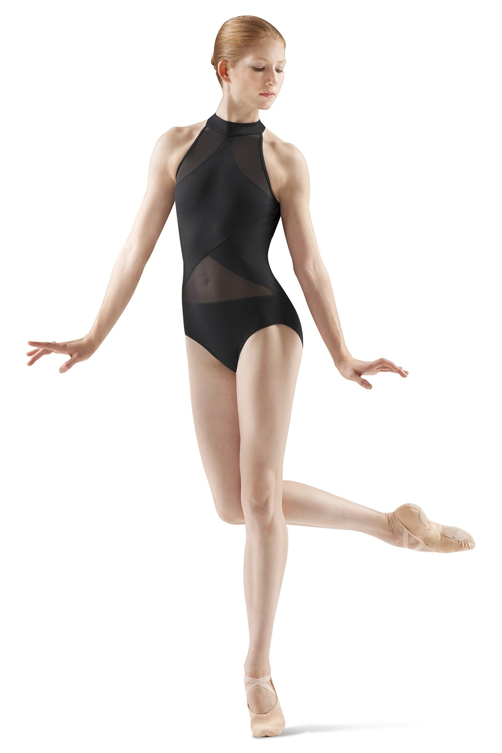 Justaucorps Avec Panneaux Transparents Women's Dance Leotards