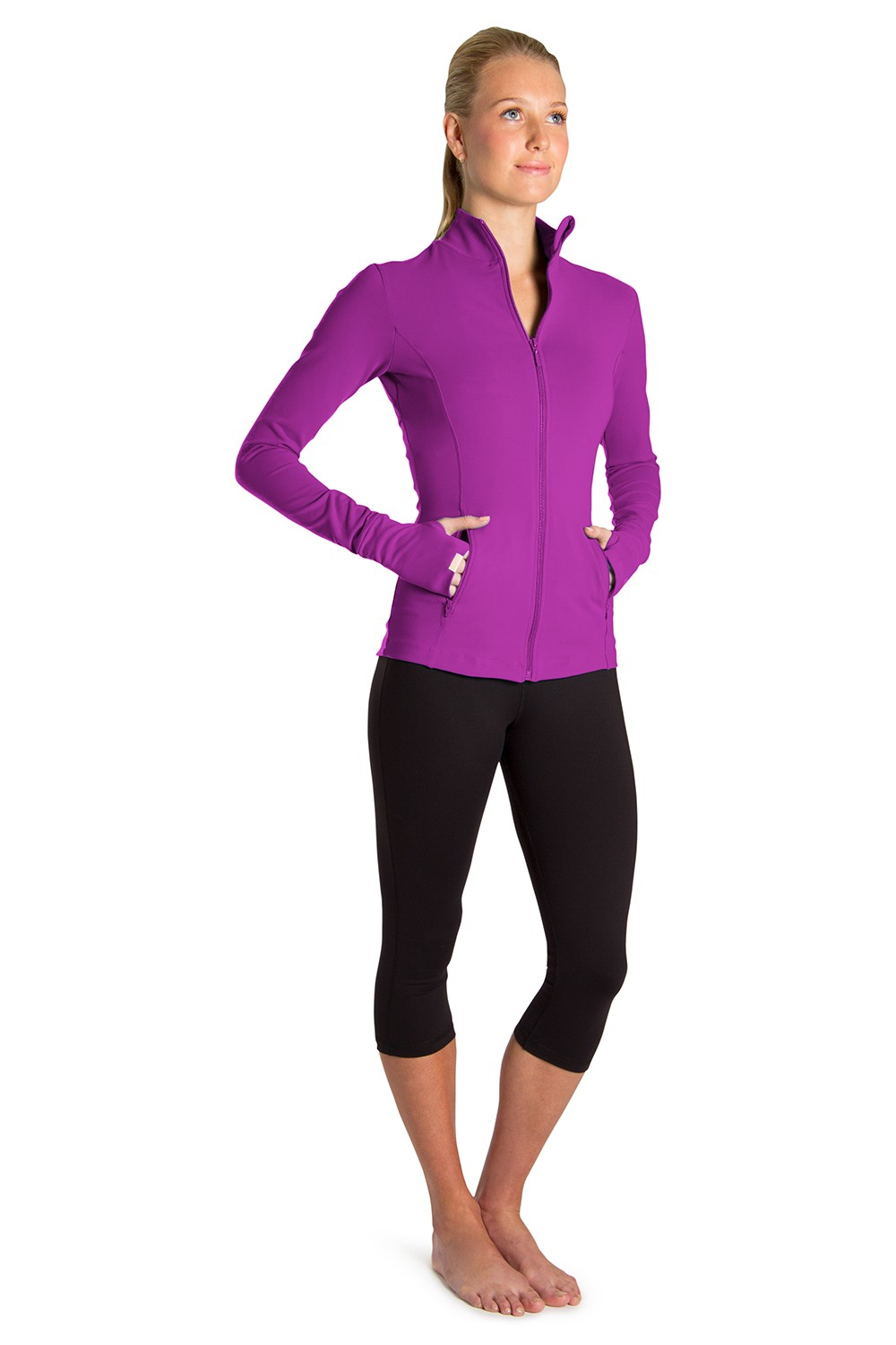 Supplex Zip Front Jacket Women's Tops