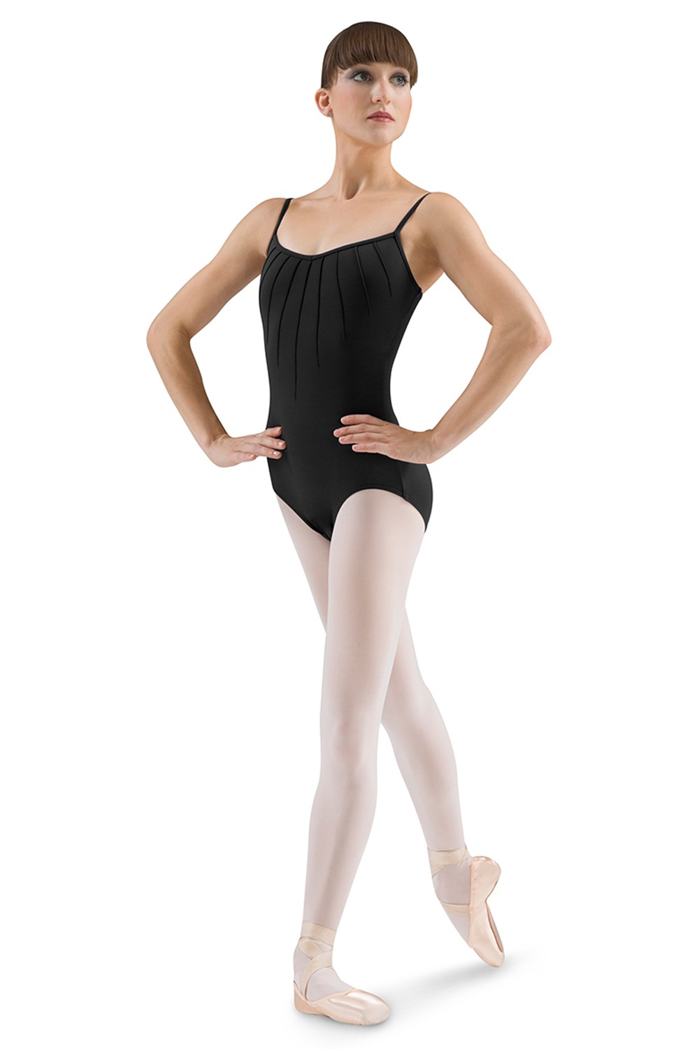 Pin Tuck Front Camisole Women's Dance Leotards