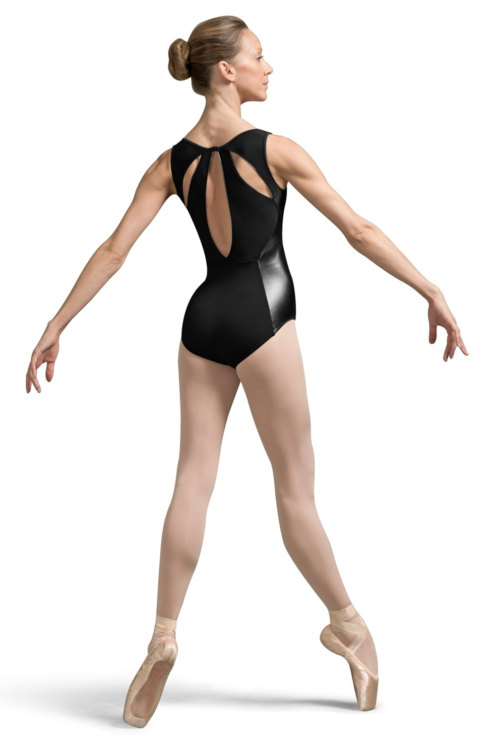 Septima Faux Leather Side Panel Tank Leotard Women's Dance Leotards