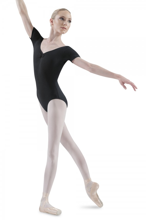 image - V Neck Short Sleeve Leo Women's Dance Leotards