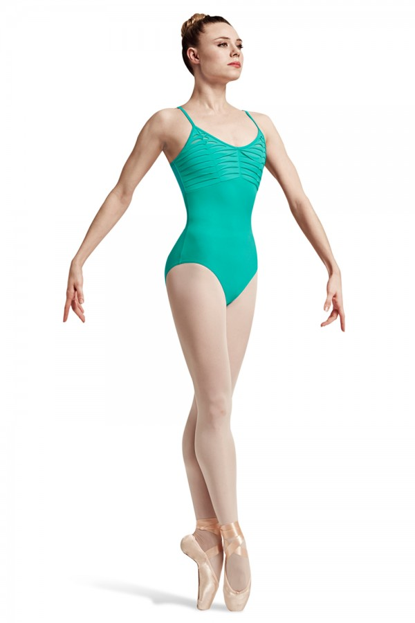 image - Leeba Spliced Twist Front Bust Camisole Leotard Women's Dance Leotards